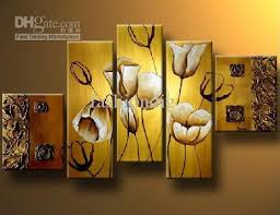 >2018 abstract flower oil painting on canvas big size wall art high  2018 abstract flower oil painting on canvas big size wall art high quality handmade modern home office decoration wall decor decoration free ship from