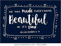 Bible Quote Has Made Everything Beautiful Stock Vector Royalty Free Mesmerizing Bible Quote