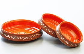 terracotta and orange urli serving set set of 3 from the