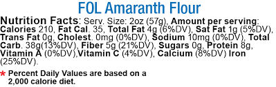 amaranth flour sprouted organic offer
