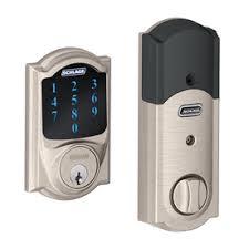 front door locks lowesShop Electronic Entry Door Deadbolts at Lowescom