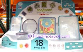 snapware 18 piece glass food storage set at costco