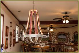 napa wine barrel chandelier