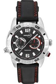 corporate gifts awards watches watchgear by tourneau corporate collection men s steel day date black subdial dial strap