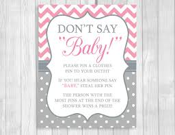 Baby Shower Clothes Pin Game Extraordinary Don't Say Baby 32x32 Printable Clothes Pin Game Or Pacifier Necklace