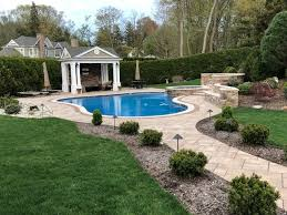 pool patio and retaining wall