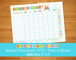 children rewards charts kids reward chart etsy
