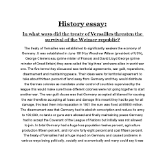 in what ways did the treaty of versailles threaten the survival of document image preview