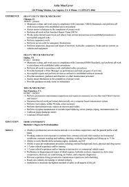 Cv Mechanic Diesel Mechanic Resume Sample Skinalluremedspa Com