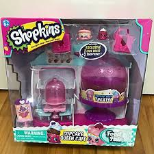 Shopkins Cuocake Queen Cafe Toys Games Bricks Figurines On