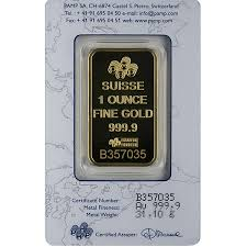 1 oz pamp suisse gold bar lady fortuna