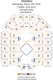 Van Andel Seating Chart Cid Entertainment