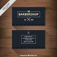 barbershop business cards black barbershop business card vector premium download