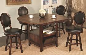 dining room tables with upholstered chairs. u.s. furniture inc 2251/2252 storage pub table and upholstered chair set - item number dining room tables with chairs