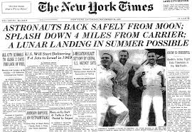 Image result for 1968 Apollo 8 returns to Earth