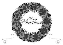 merry christmas card black and white. Wonderful White In Merry Christmas Card Black And White N