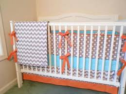 orange baby bedding crib sets crib bedding set gray aqua orange by on orange baby bedding