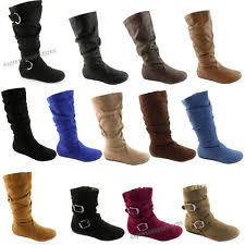 denver hayes women s boots. women\u0027s boots slouch below the knee high new faux suede flat heels booties size denver hayes women s