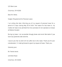 Leave Request Form Sample Delectable Formal Sick Leave Letter Sample Notice Oliviajaneco