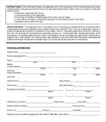 Daycare Employment Application Template Sample Membership