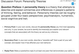 Discussion Forum Personality Theories Jun 17 201 Chegg Com