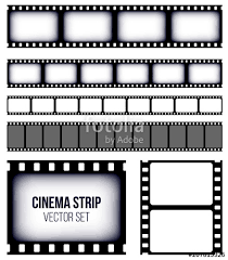 Creative Vector Illustration Of Old Retro Film Strip Frame