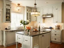 Kitchen:Modern Chandelier Laminate Flooring White Kitchen Cabinet White  Kitchen Island Black Marmer Countertop Electric