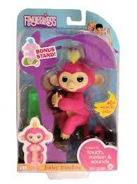 BELLA Fingerlings WowWee Interactive Baby Monkey Toys Sound Finger ...