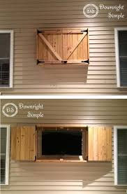 outdoor tv cabinet plans elegant 45 lovely diy tv wall mount