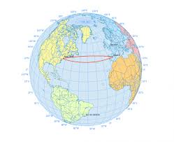 Why Are Great Circles The Shortest Flight Path Gis Geography