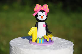 Cake Decorating Animal Figures 1st Birthday Cake Topper Figurine Cake Decorations Penguin Cake