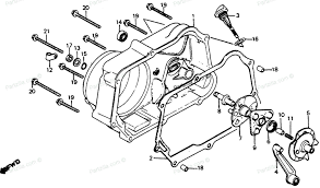 Honda c70 engine diagram honda motorcycle 1983 oem parts diagram for right crankcase cover