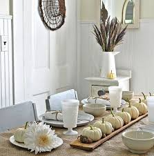 View in gallery Thanksgiving table decorations in natural white