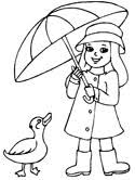 Small Picture Spring Umbrella Coloring Pages