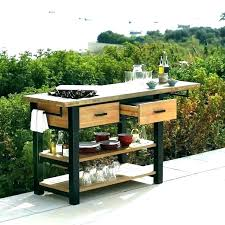 outdoor kitchen cart outdoor storage cart wheels serving carts on glass with folding stand flat panel