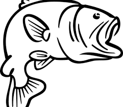 Small Picture Bass Fish Coloring Pages Clipart Panda Free Clipart Images