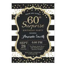 Surprise 60th Birthday Invitation Templates Free Gold Glitter