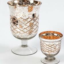 mercury silver gold glass footed vase votive weddings home decor brand