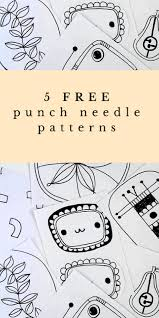Punch Needle Embroidery Patterns Free Best Inspiration