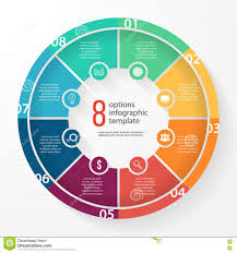 Vector Business Pie Chart Circle Infographic Template Stock