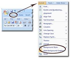 Where Is The Background In Microsoft Powerpoint 2007 2010