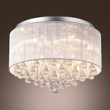 stunning crystal teardrops hang together 6 light contemporary style flush mount lighting