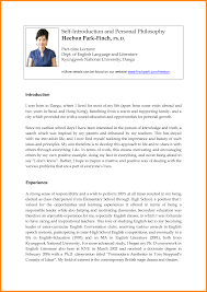 Best Ideas Of Self Introduction Letter Resume Brilliant 9 Self
