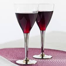 mozaik 100 disposable plastic wine glasses with silver stem