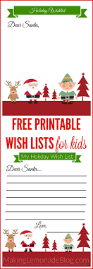 Christmas Wish List Printable Free Printable Holiday Wish List For Kids Making Lemonade 8