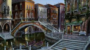 2018 hot ing hd print oil painting on canvas robert finale venetian sunrise painting italy venice bridge c gondola cafe table 10x18 from wuhaisu