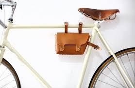 joydivision vintage retro pure leather car beam kit bike saddle bag handmade