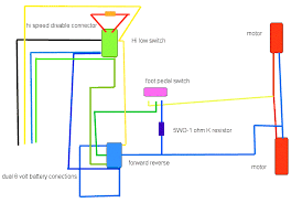 help me rewire my sons power wheels truck ars technica openforum here is a wiring diagram that i drew up