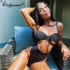 Colysmo <b>Hollow</b> Out <b>one piece swimsuit Women</b> Sexy <b>Monokini</b> ...