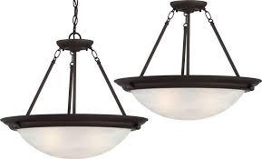 lunar 3 light antique bronze pendant or semi flush ceiling mount